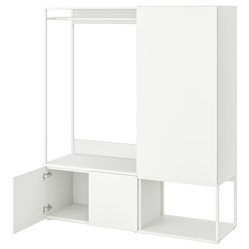 PLATSA دولاب ملابس مع 3 أبواب أبيض/Fonnes أبيض 140 سم 42 سم 161 سم