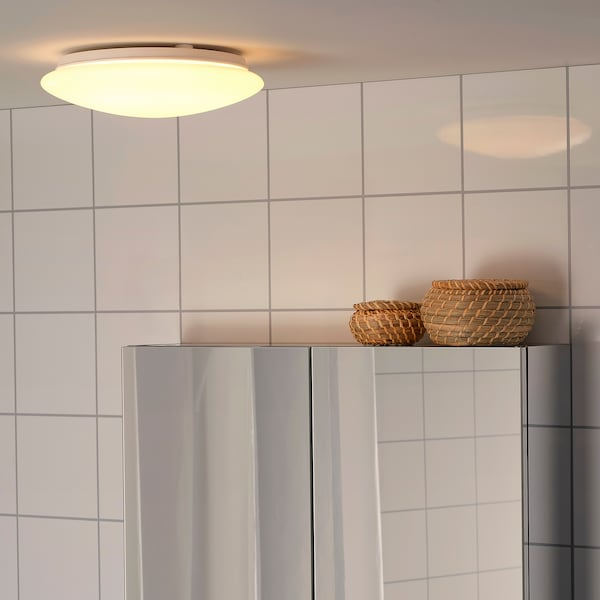 SJÖGÅNG مصباح LED سقف/حائط أبيض 9.5 واط 2700 كلفن 800 لومن 6.7 سم 25 سم