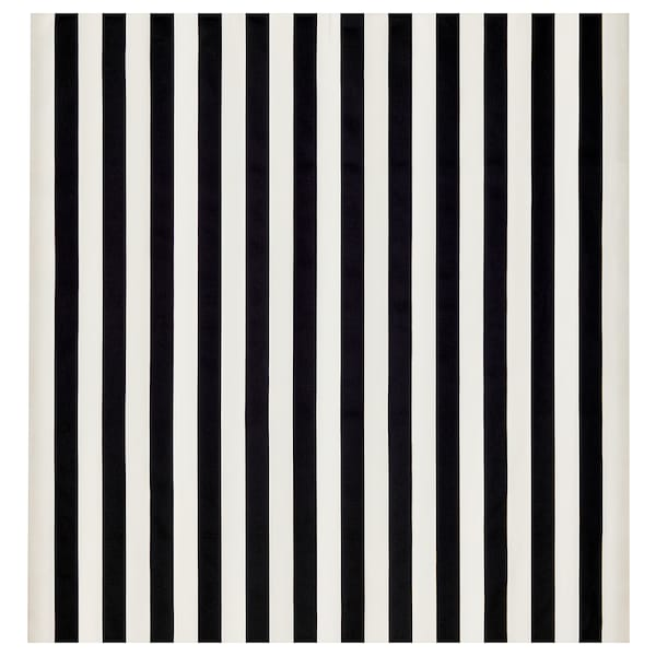 SOFIA قماش عريض-مقلّم/أسود/ أبيض 280 g/m² 150 سم 1.50 م²