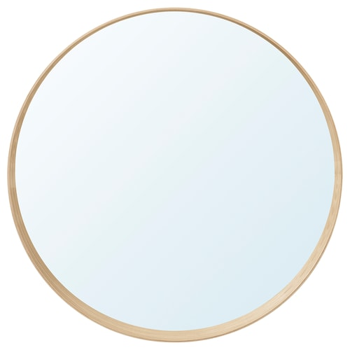 STOCKHOLM مرآة قشرة خشب غبيراء الحابلين 10 سم 80 سم
