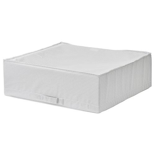 STUK صندوق تخزين أبيض/رمادي 55 سم 51 سم 18 سم