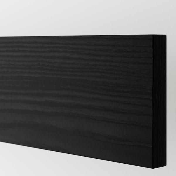 TINGSRYD واجهة دُرج مظهر الخشب أسود 59.7 سم 10 سم 60 سم 9.7 سم 1.6 سم 2 قطعة