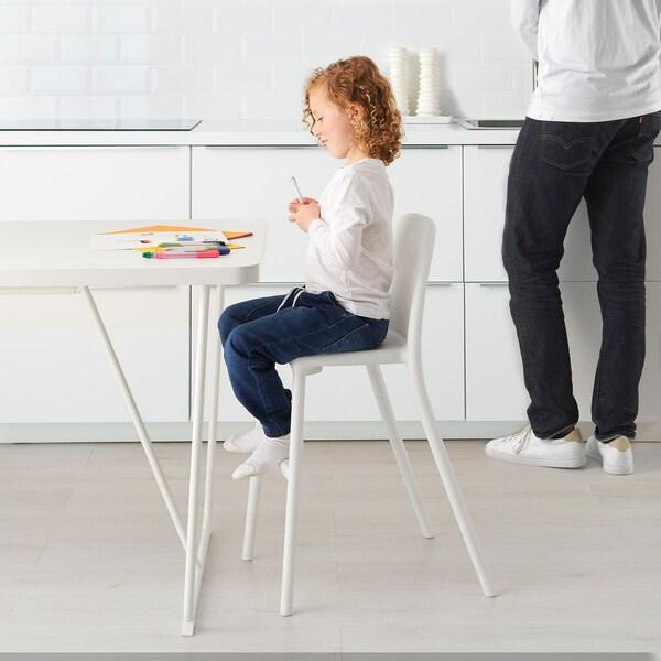 URBAN كرسي صغير أبيض 45 سم 48 سم 79 سم 32 سم 28 سم 53 سم