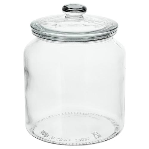 VARDAGEN مرطبان مع غطاء زجاج شفاف 18 سم 15 سم 1.9 ل