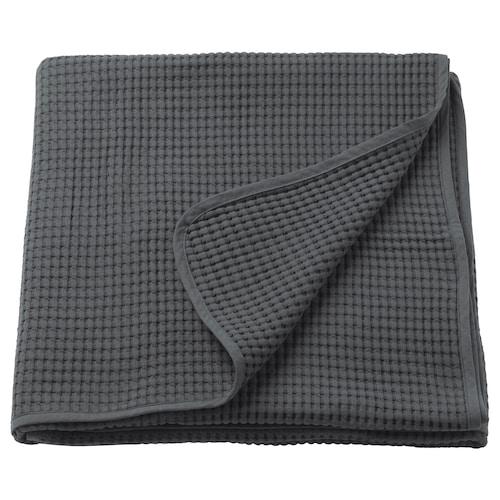 VÅRELD غطاء سرير رمادي غامق 250 سم 150 سم