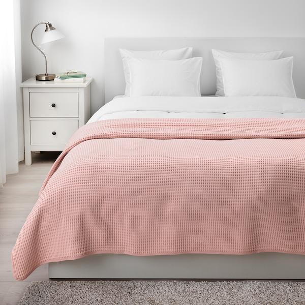 VÅRELD غطاء سرير زهري فاتح 250 سم 230 سم