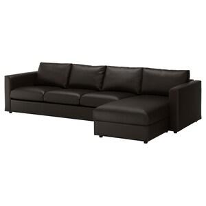 غطاء: مع أريكة طويلة/farsta أسود.