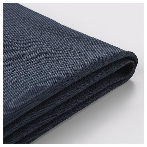 VIMLE غطاء كنبة زاوية، 4 مقاعد مع طرف مفتوح/Orrsta أسود-أزرق