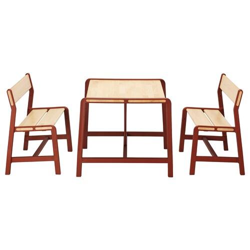 YPPERLIG طاولة أطفال مع مقعدين 74 سم 62 سم 56 سم
