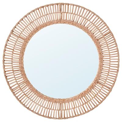 ÄNGLARP Mirror, rattan, 67 cm