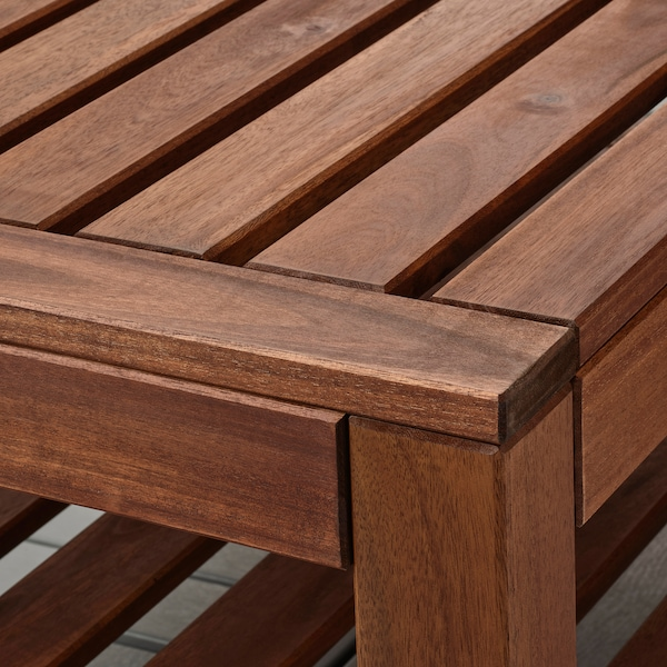 ÄPPLARÖ Coffee table, outdoor, brown stained, 90x55 cm