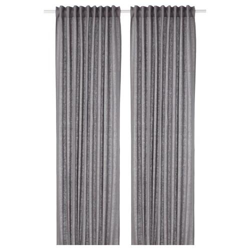 AINA curtains, 1 pair dark grey 300 cm 145 cm 2.00 kg 4.35 m² 2 pieces