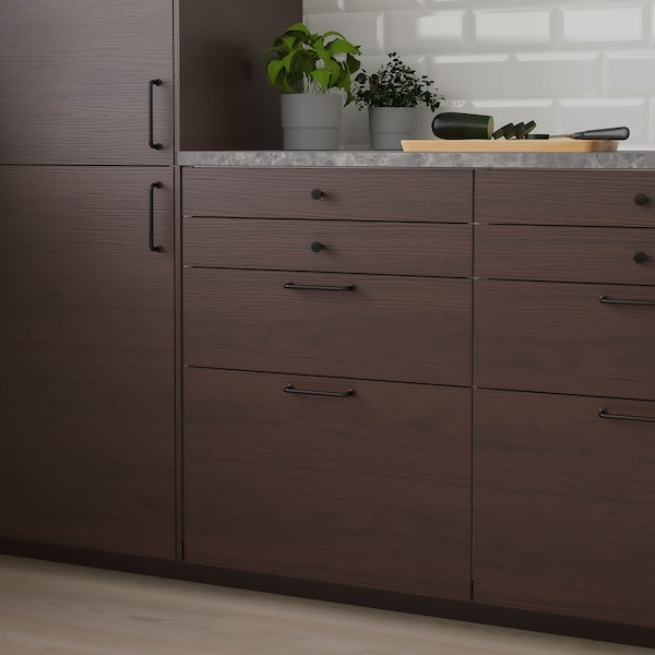 ASKERSUND Drawer front, dark brown ash effect, 60x40 cm
