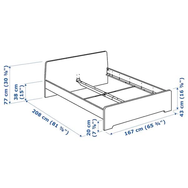 ASKVOLL هيكل سرير, أبيض/Lonset, 160x200 سم