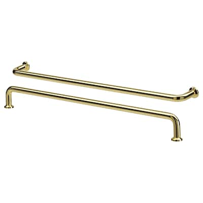 BAGGANÄS Handle, brass-colour, 335 mm