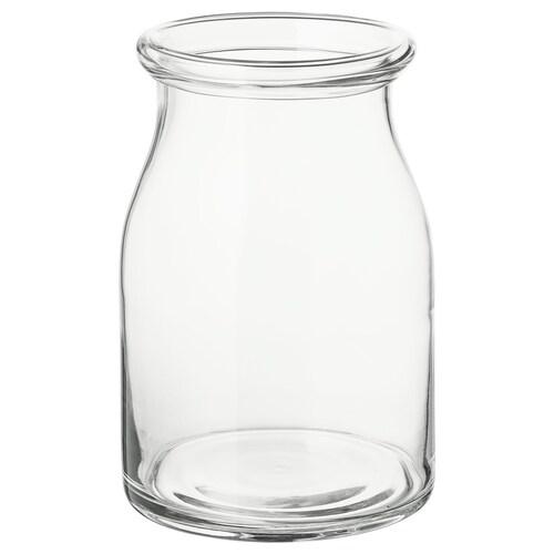 BEGÄRLIG vase clear glass 29 cm 19 cm