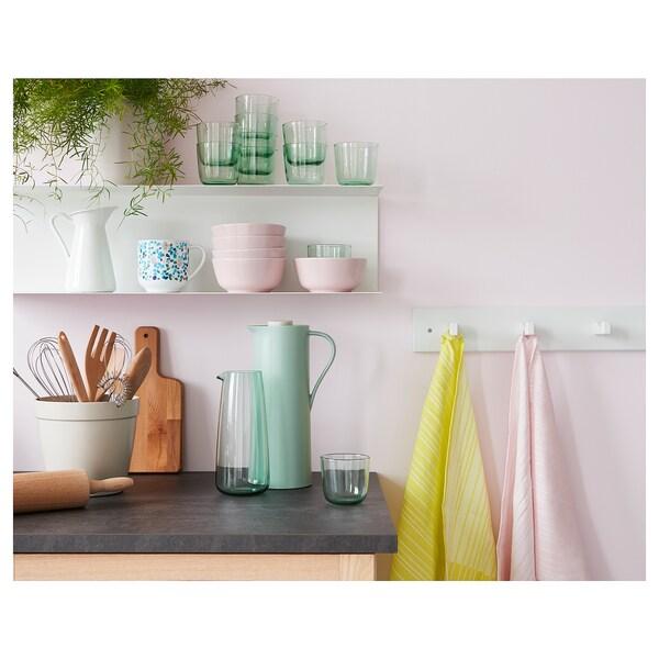 BEHÖVD Vacuum flask, light green/beige, 1 l