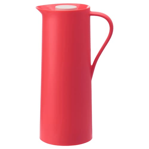 BEHÖVD vacuum flask light red 30 cm 1 l