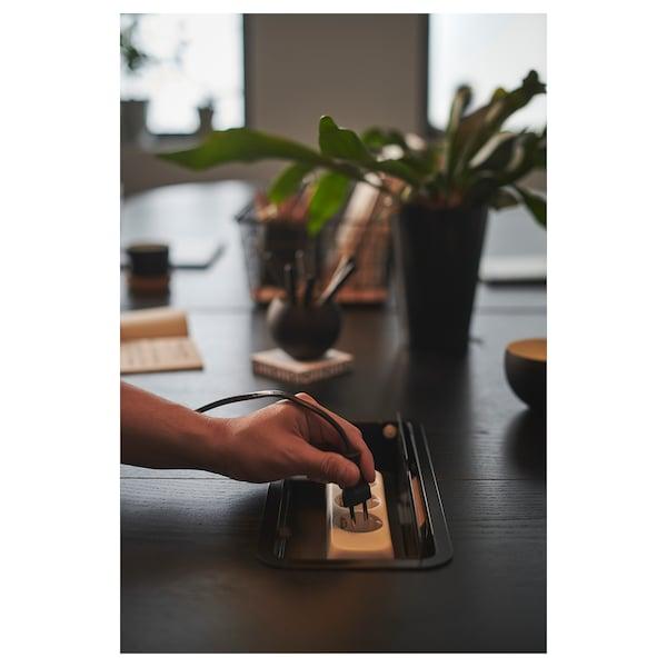 BEKANT Conference table, black stained ash veneer black, 280x140 cm