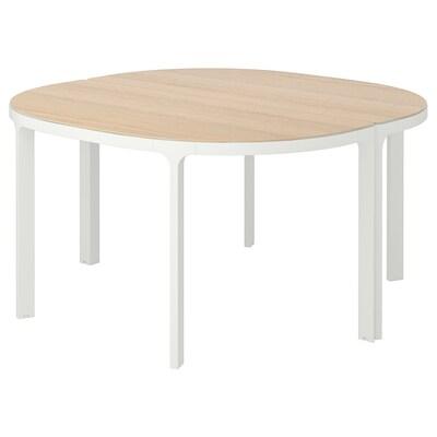 BEKANT Conference table, white stained oak veneer/white, 140 cm