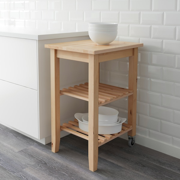 BEKVÄM kitchen trolley birch 9 kg 58 cm 50 cm 85 cm