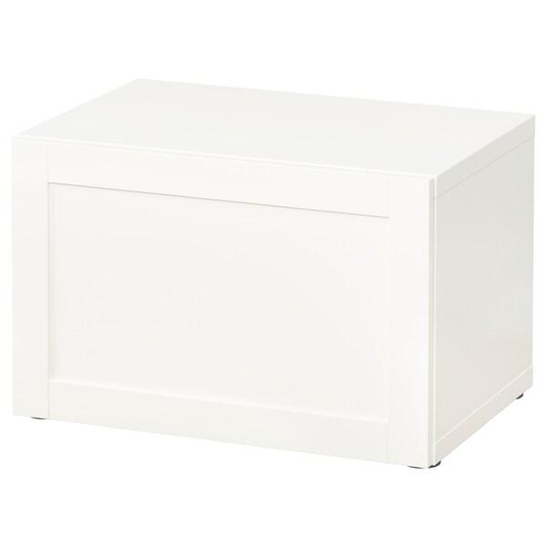 BESTÅ Shelf unit with door, white/Hanviken white, 60x42x38 cm
