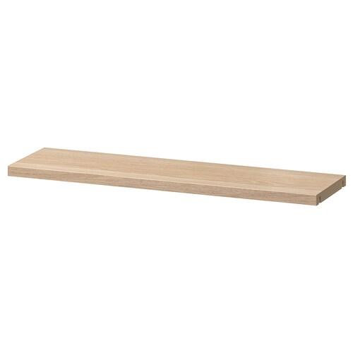 BESTÅ shelf white stained oak effect 56 cm 16 cm 13 kg