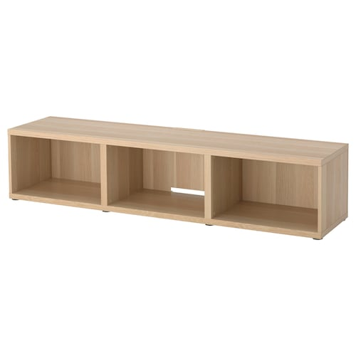 BESTÅ TV bench white stained oak effect 50 kg 180 cm 40 cm 38 cm 65 ""