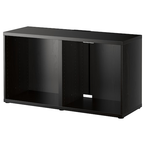 BESTÅ TV bench black-brown 120 cm 40 cm 64 cm 50 kg
