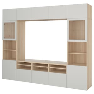 Colour: White stained oak effect/lappviken light grey clear glass.