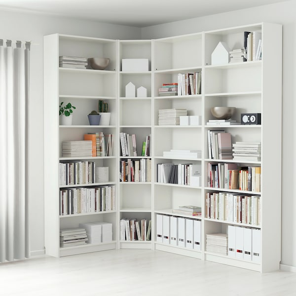 BILLY مكتبة, أبيض, 215/135x28x237 سم