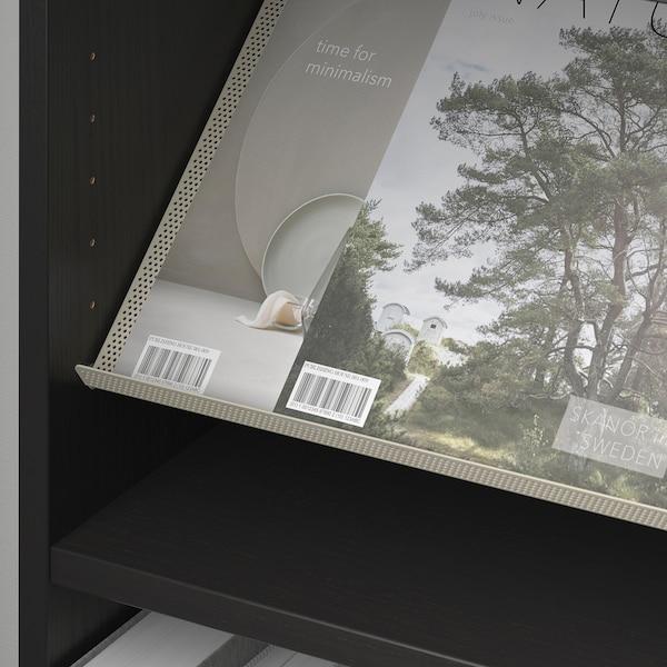 BILLY / BOTTNA خزانة كتب مع رف عرض, أسود-بني/بيج, 80x28x106 سم