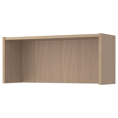 BILLY Height extension unit, white stained oak veneer, 80x28x35 cm