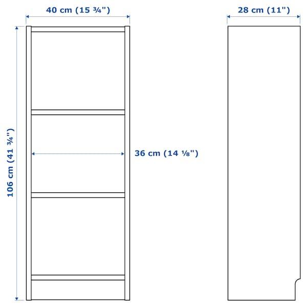 BILLY / OXBERG bookcase with door white 40 cm 30 cm 106 cm 14 kg