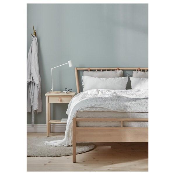 BJÖRKSNÄS bed frame birch/Luröy 214 cm 180 cm 43 cm 55 cm 109 cm 24 cm 750 g 820 g 200 cm 160 cm