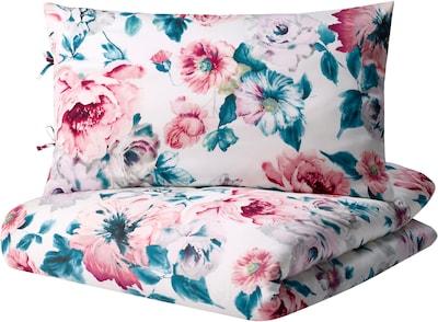 BODILSKER Duvet cover and pillowcase, multicolour/floral pattern, 150x200/50x60 cm
