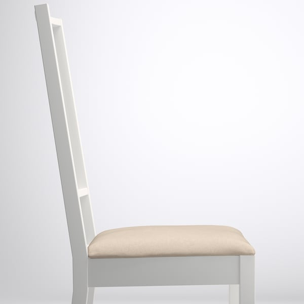 BÖRJE Chair, white/Kungsvik sand