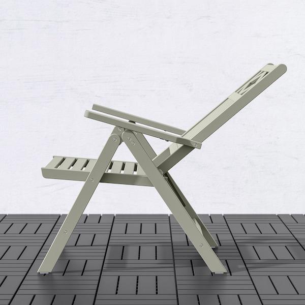 BONDHOLMEN Reclining chair, outdoor, grey