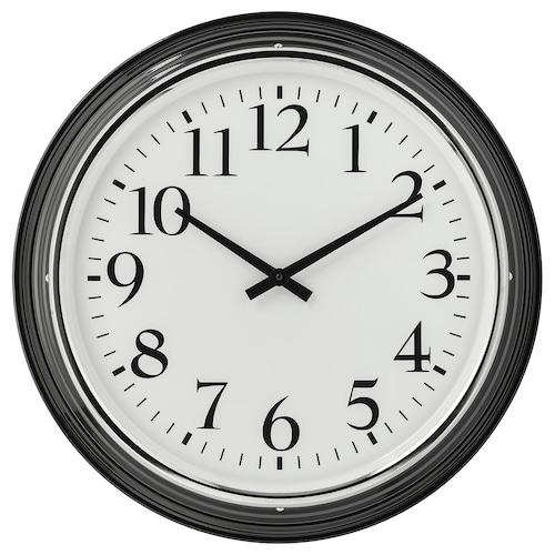 BRAVUR wall clock black 8 cm 59 cm