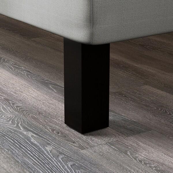 BRENNÅSEN Leg, black stained, 20 cm
