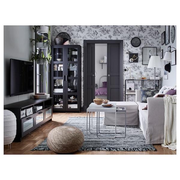 BRIMNES glass-door cabinet black 80 cm 35 cm 190 cm 4 kg