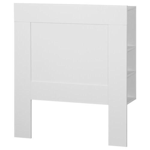 BRIMNES headboard with storage compartment white 96 cm 28 cm 110 cm 90 cm
