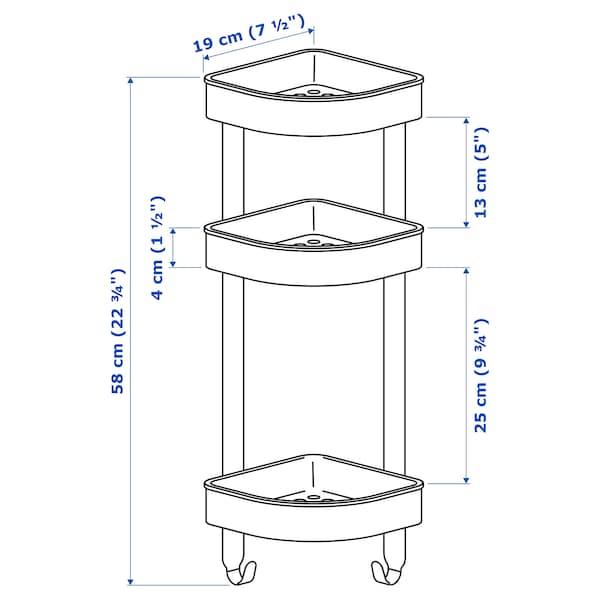 BROGRUND corner wall shelf unit stainless steel 19 cm 19 cm 58 cm
