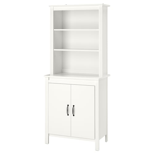 BRUSALI high cabinet with door white 80 cm 48 cm 190 cm