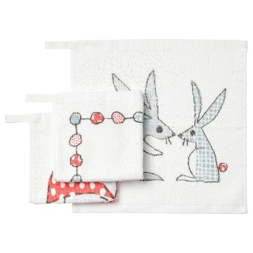 BUSSIG washcloth multicolour 30 cm 30 cm 3 pieces