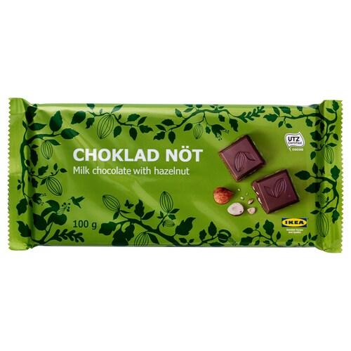 CHOKLAD NÖT milk chocolate bar w hazelnuts UTZ certified 100 g