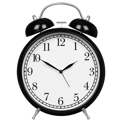 DEGADE Alarm clock, black, 21 cm