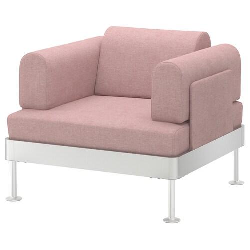 DELAKTIG armchair Gunnared light brown-pink 79 cm 94 cm 84 cm 45 cm 20 cm 90 cm 80 cm 45 cm