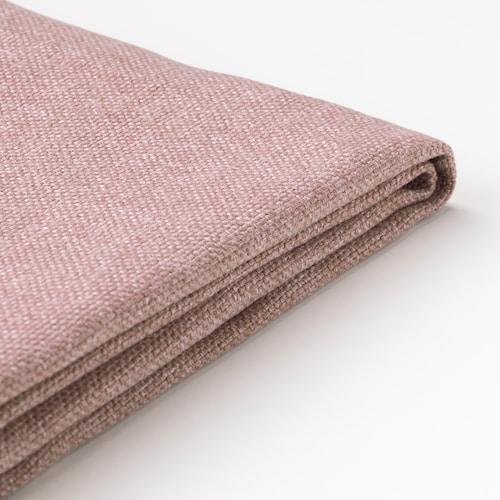 DELAKTIG cover for seat cushion, 2-seat sofa Gunnared light brown-pink