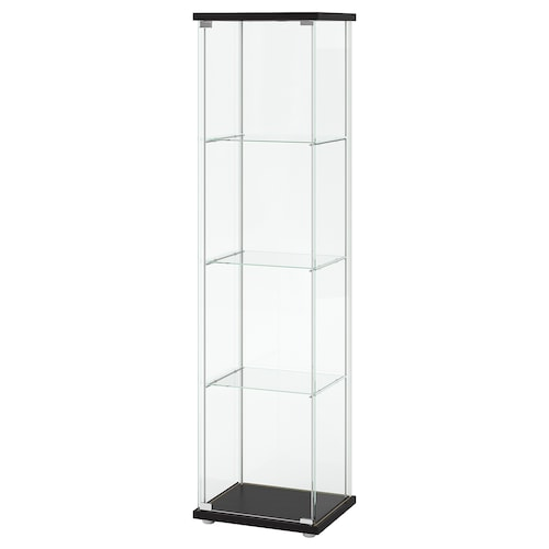 DETOLF glass-door cabinet black-brown 43 cm 37 cm 163 cm 3.50 kg